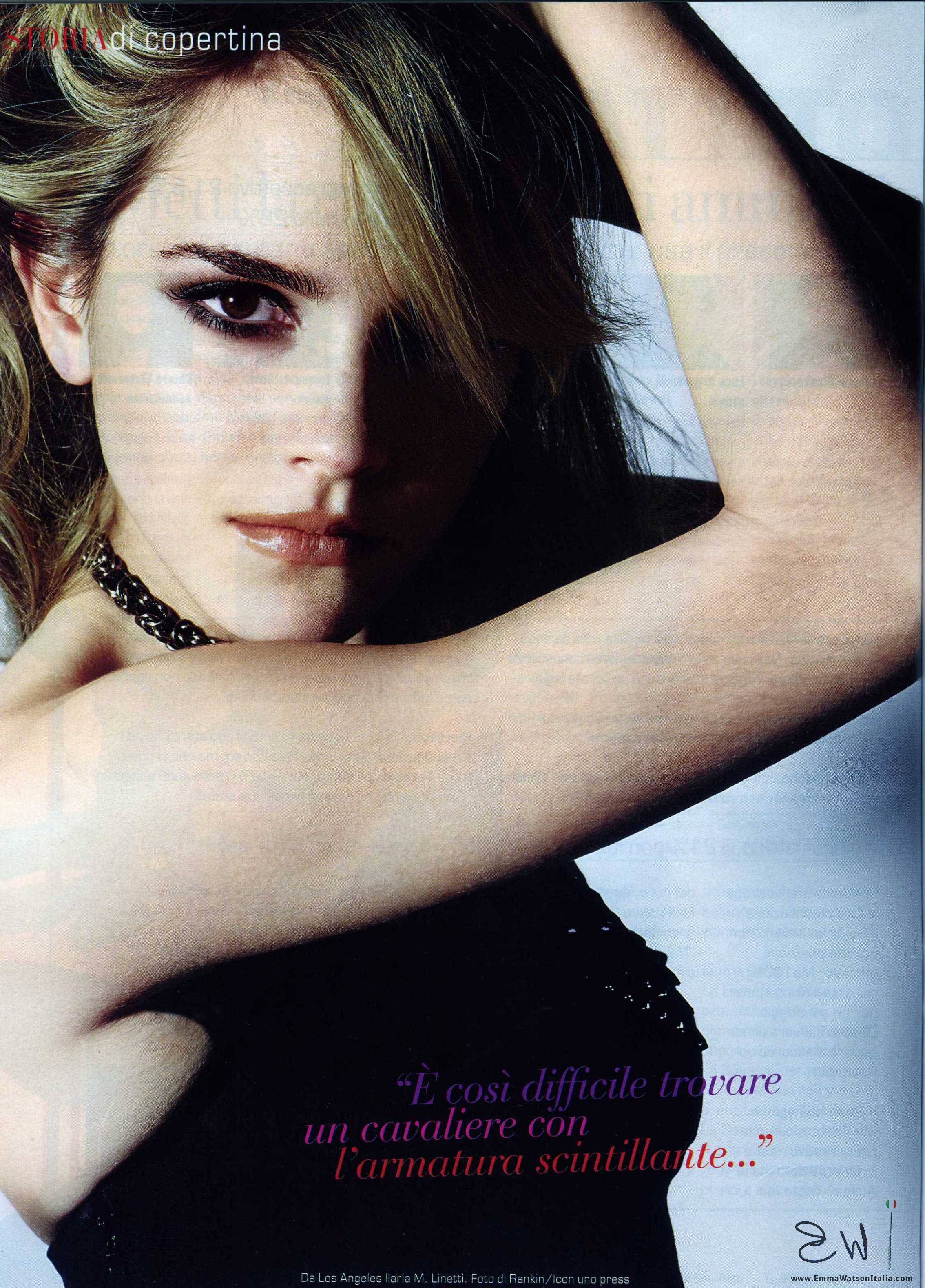 emma watson on the cover of top girl [italy] | emma watson newser